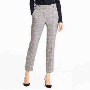 J Crew Tailored Cropped Pants in Lady Glen Plaid
